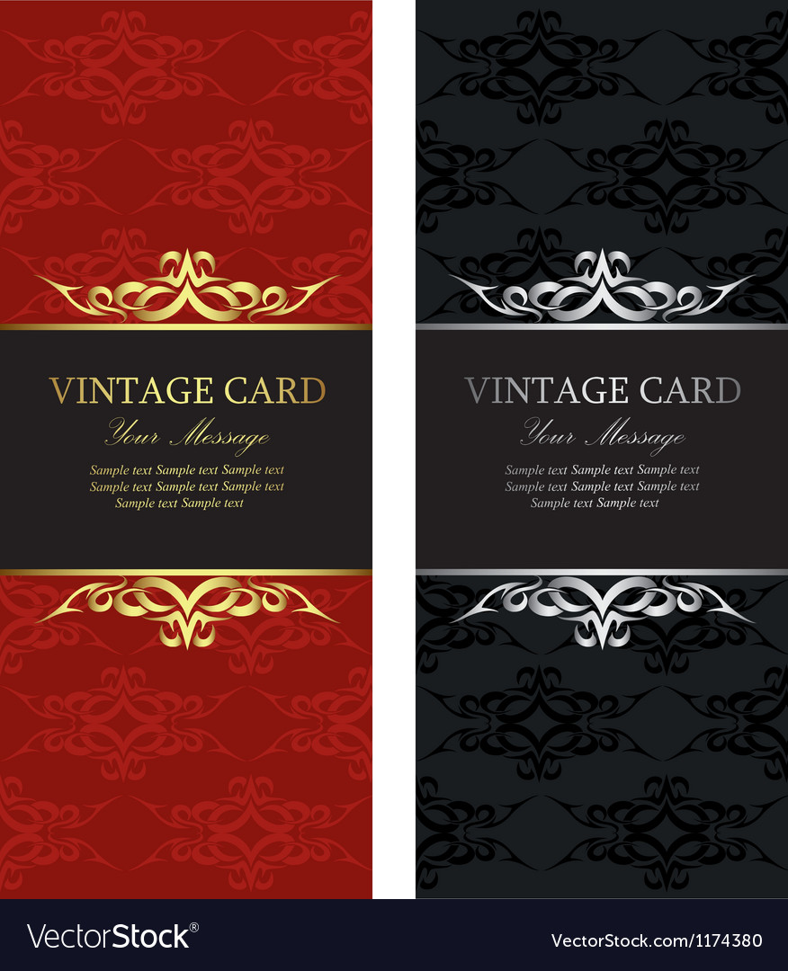 Vintage cards vector | Price: 1 Credit (USD $1)