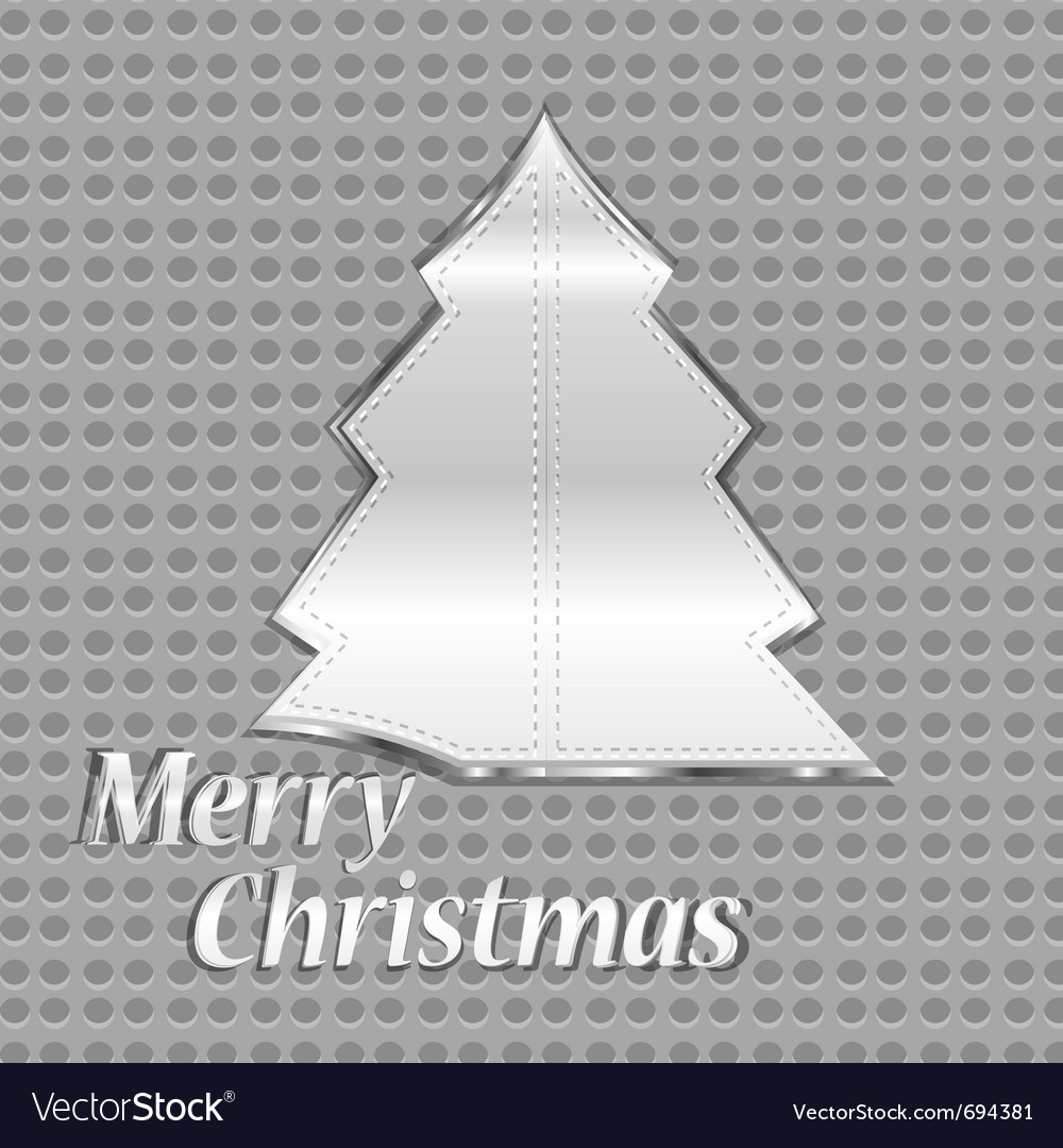 Abstract steel christmas tree vector | Price: 1 Credit (USD $1)