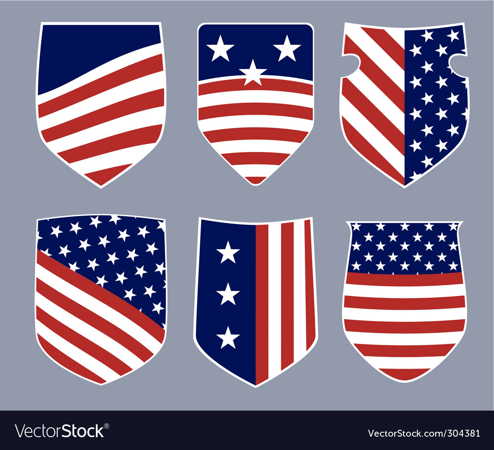 American shields vector | Price: 1 Credit (USD $1)