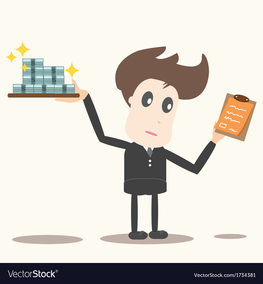 Delivery man with money and checklist vector | Price: 1 Credit (USD $1)