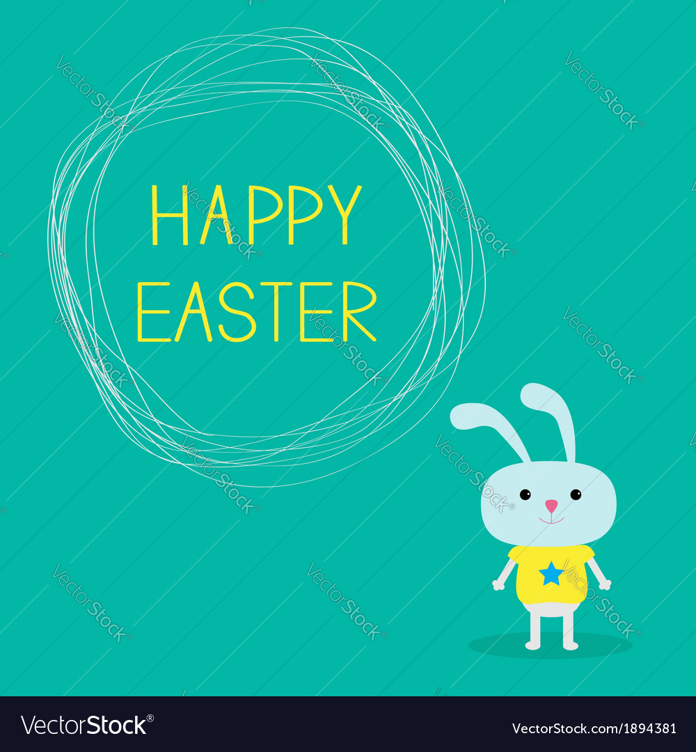 Easter bunny and scribble speech bubble vector | Price: 1 Credit (USD $1)