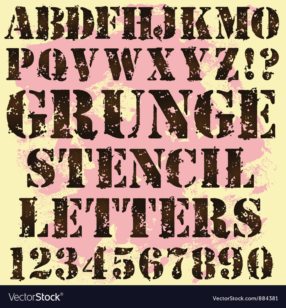 Grunge stencil letters vector | Price: 1 Credit (USD $1)