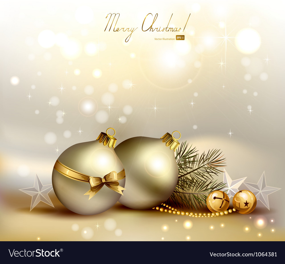 Light christmas background vector | Price: 3 Credit (USD $3)
