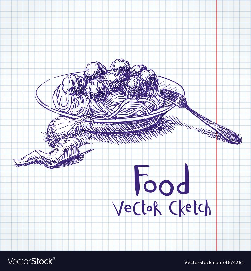 Meat sketch vector   Price: 1 Credit (USD $1)
