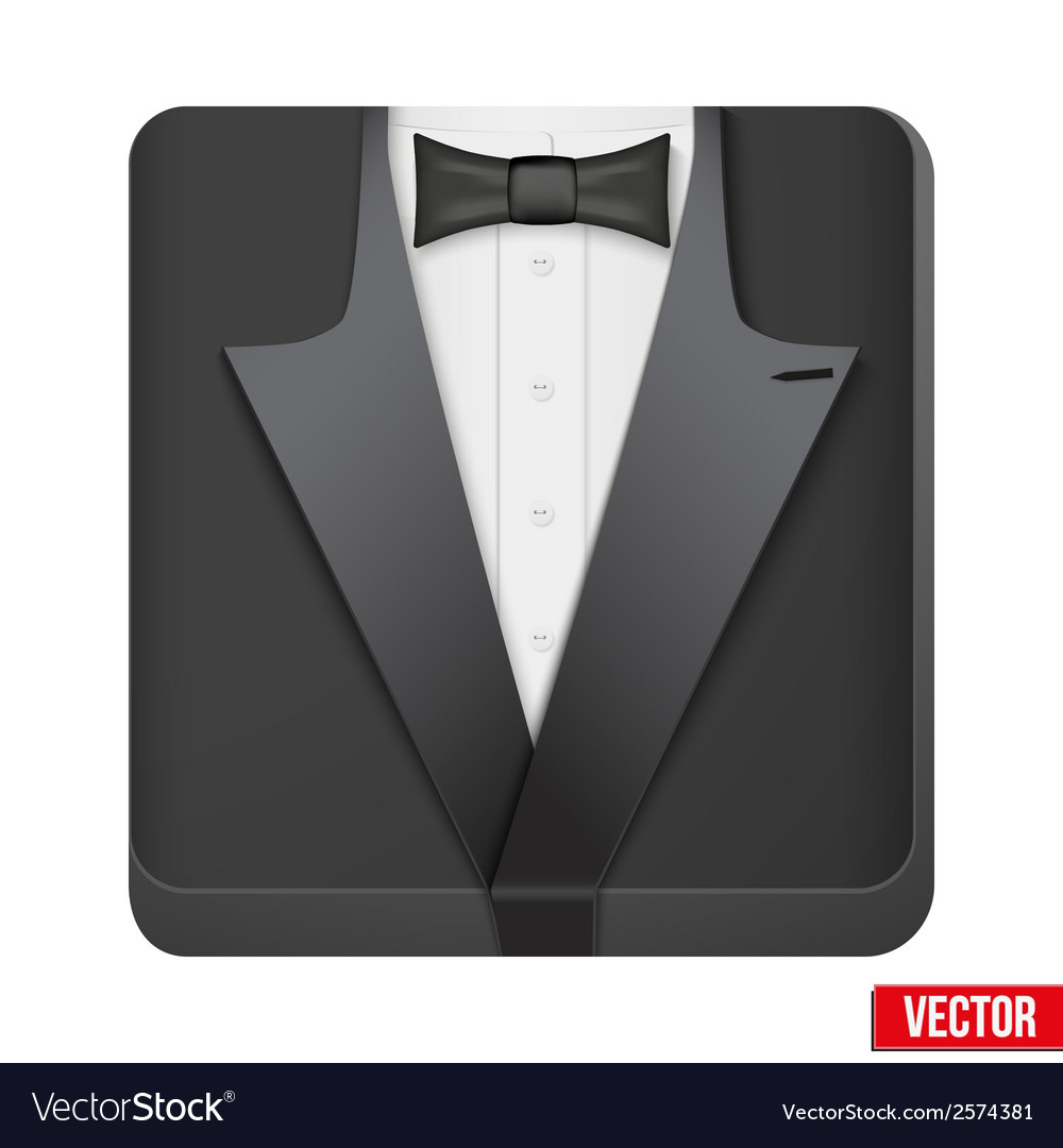 Premium icon suit tuxedo and bow-tie vector | Price: 1 Credit (USD $1)