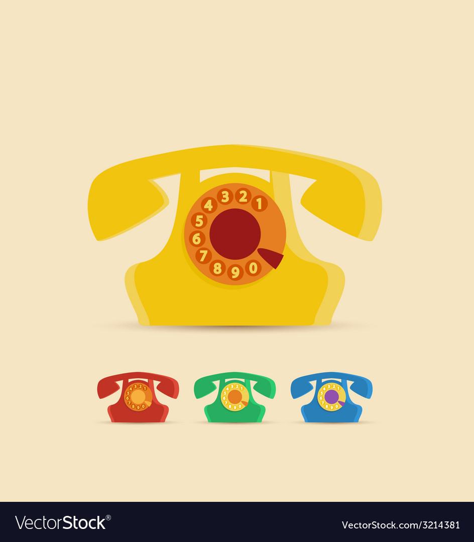 Retro phone vector   Price: 1 Credit (USD $1)
