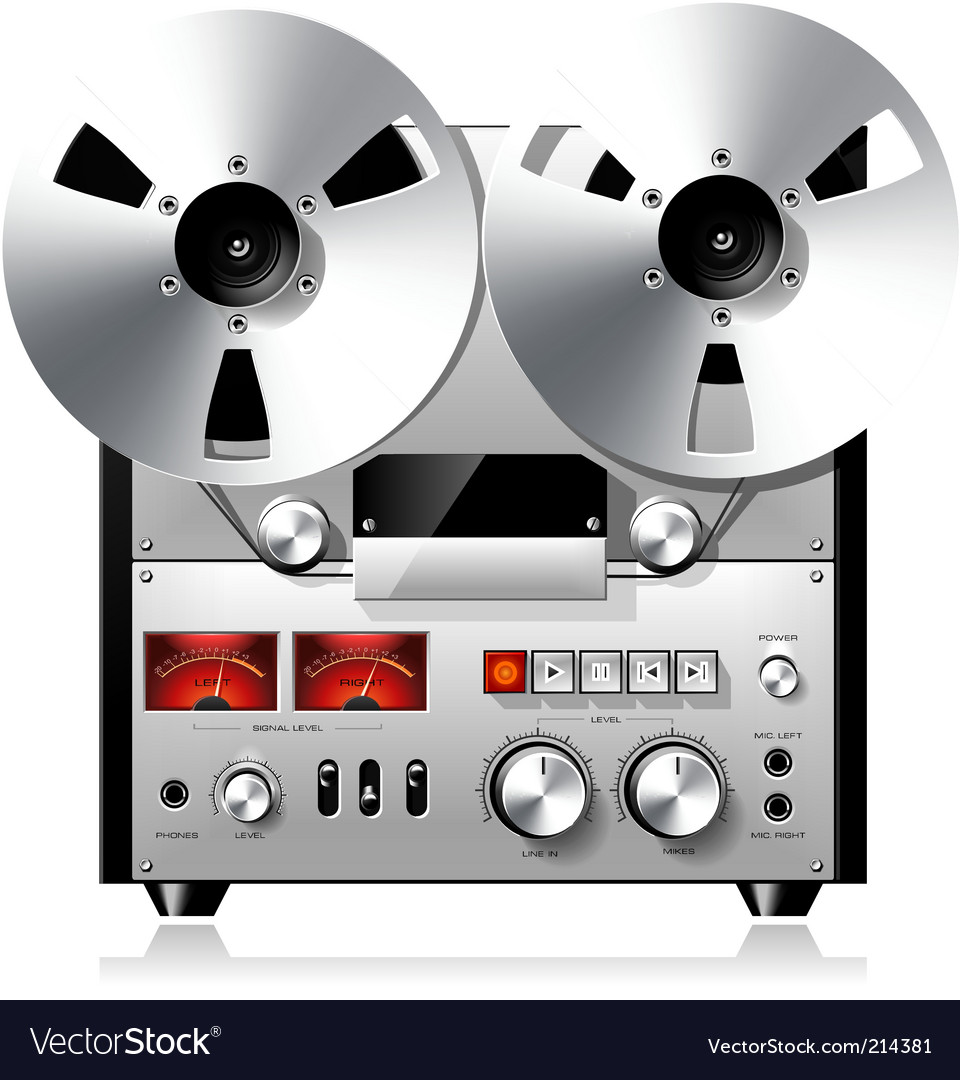 Tape recorder deck vector | Price: 3 Credit (USD $3)
