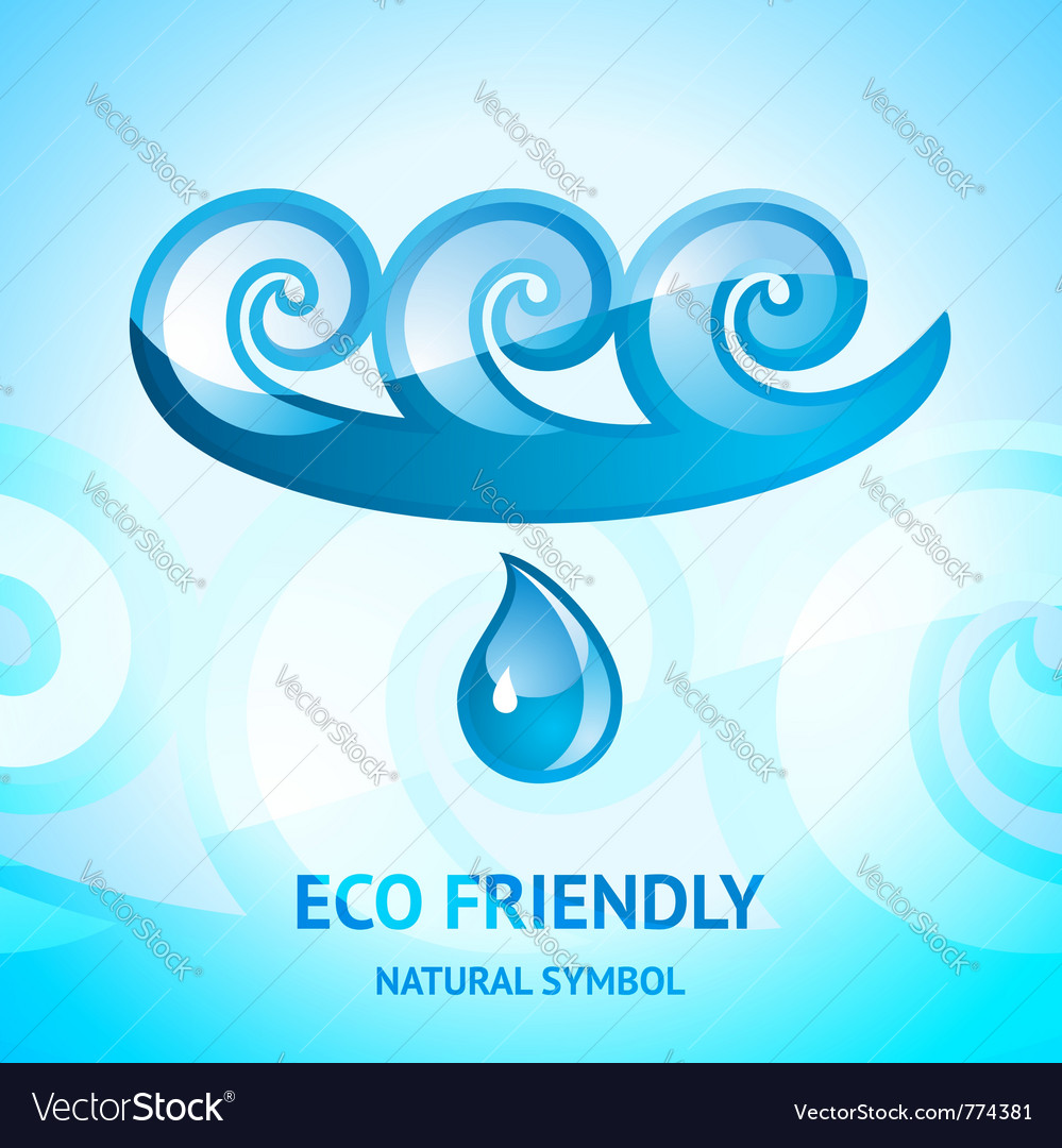 Water natural symbol vector | Price: 1 Credit (USD $1)