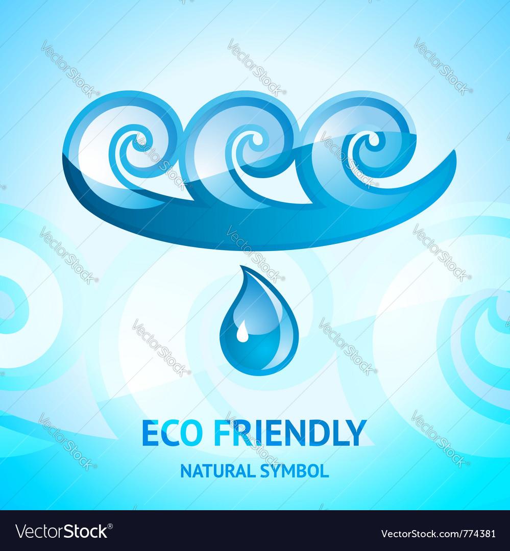 Water natural symbol vector | Price: 1 Credit (USD $1)