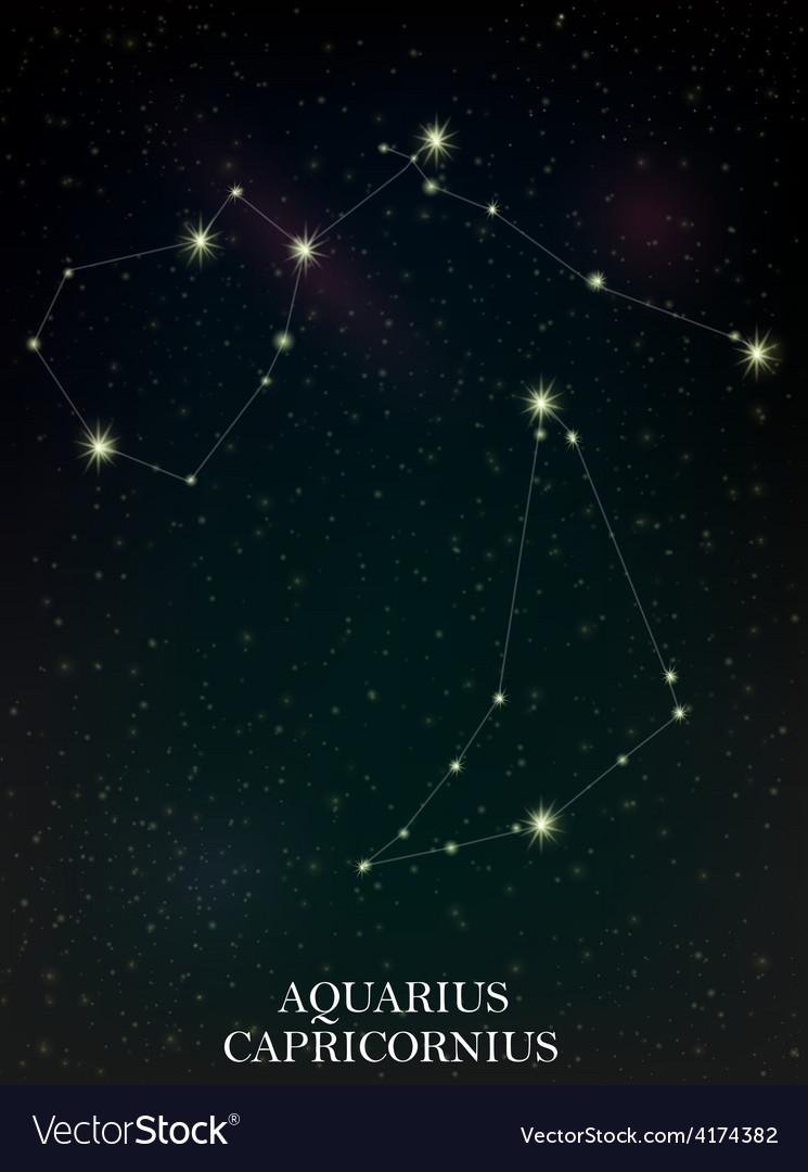 Aquarius and capricornius constellation vector | Price: 1 Credit (USD $1)