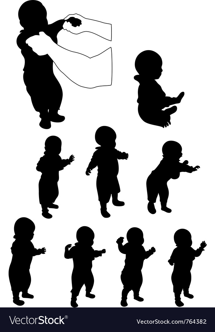 Baby first steps vector | Price: 1 Credit (USD $1)