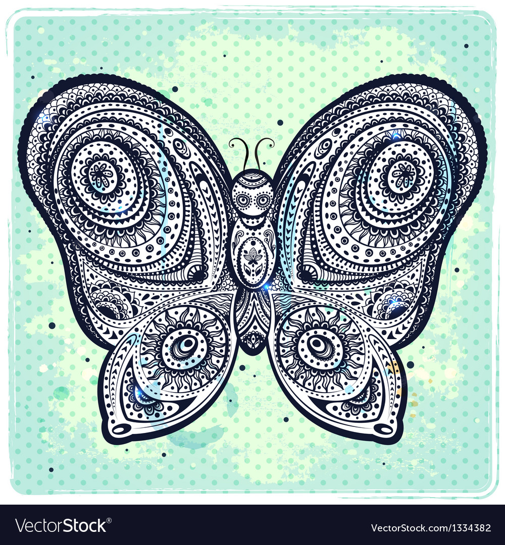 Beautiful butterflies seamless vector | Price: 1 Credit (USD $1)