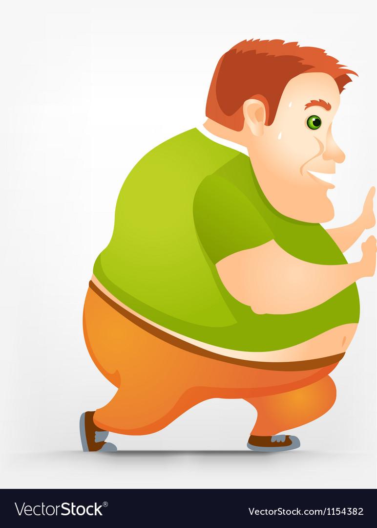 Cheerful chubby man vector   Price: 1 Credit (USD $1)