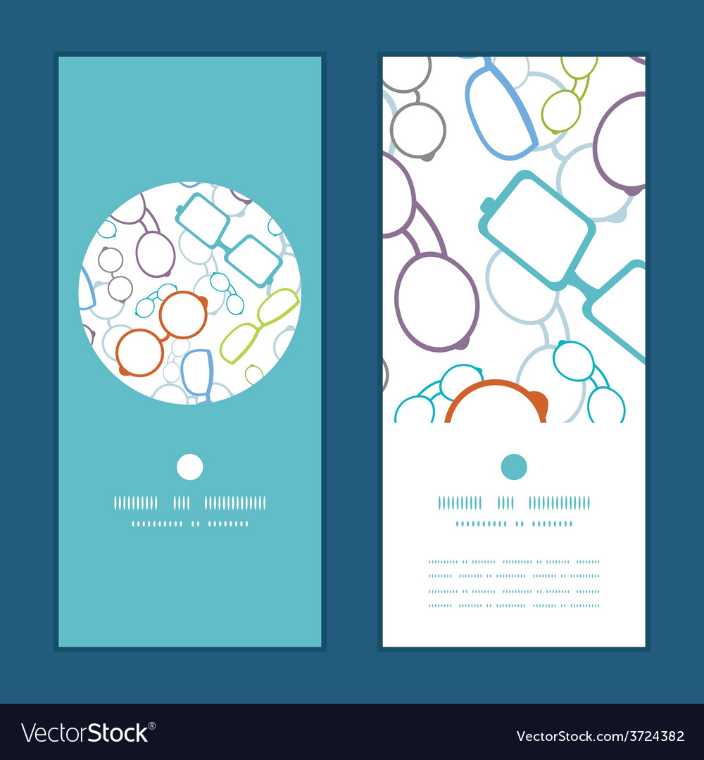Colorful glasses vertical round frame vector | Price: 1 Credit (USD $1)