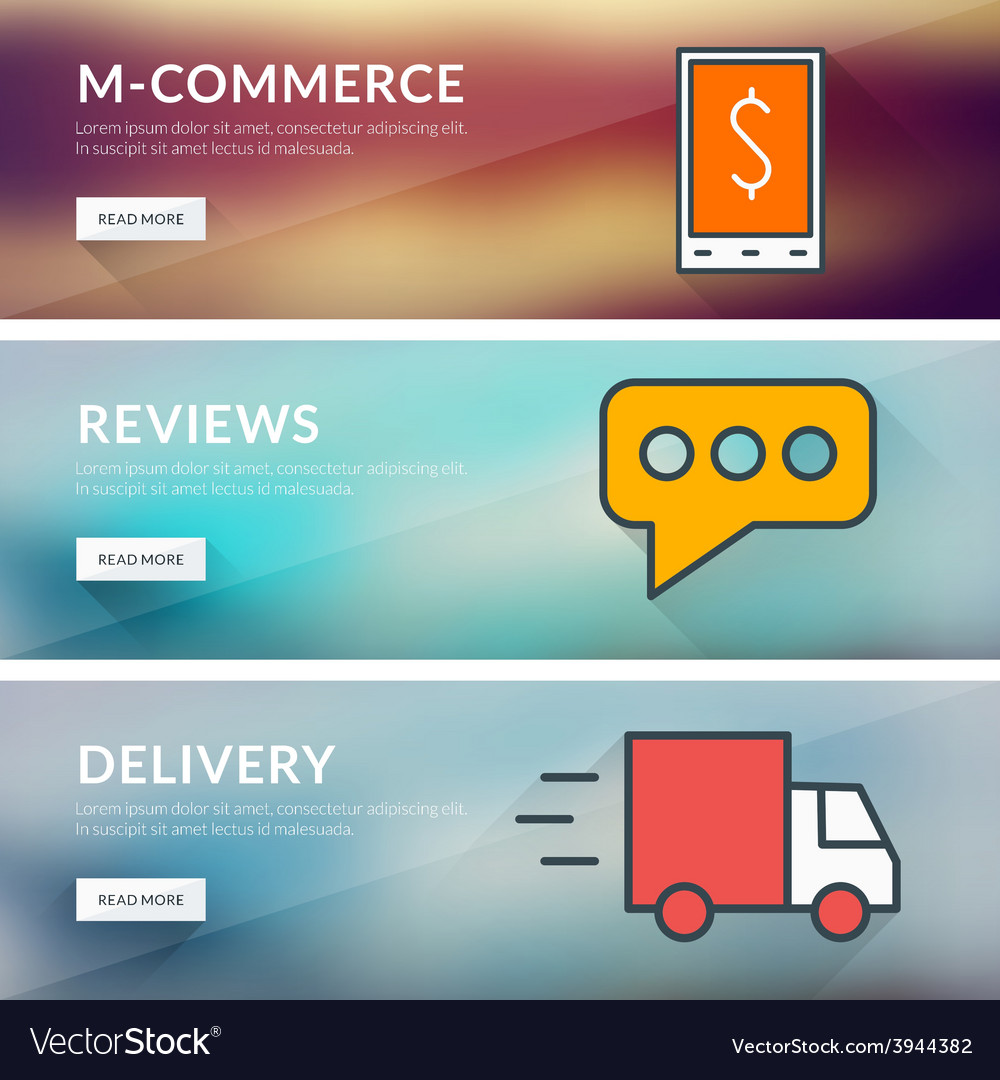 Flat design concept for m-commerce reviews vector | Price: 1 Credit (USD $1)
