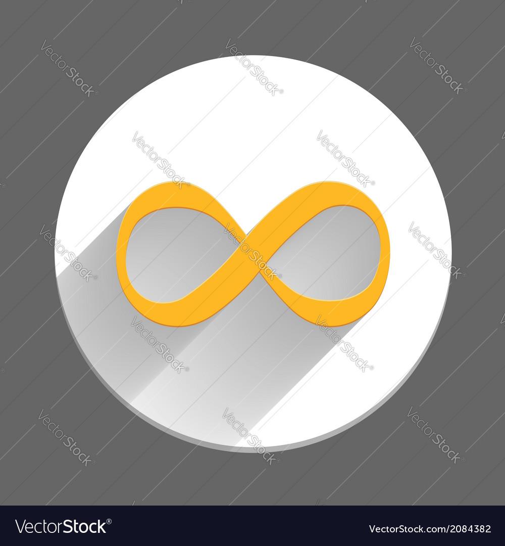 Infinity symbol icon vector | Price: 1 Credit (USD $1)
