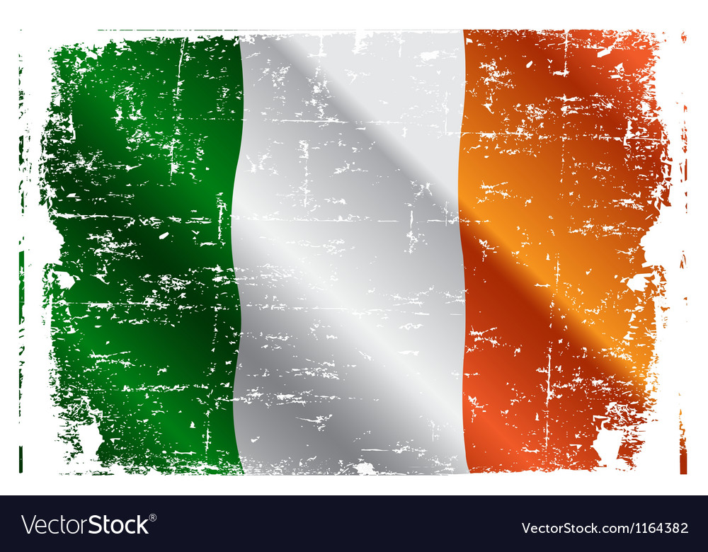 Irish flag vector | Price: 1 Credit (USD $1)