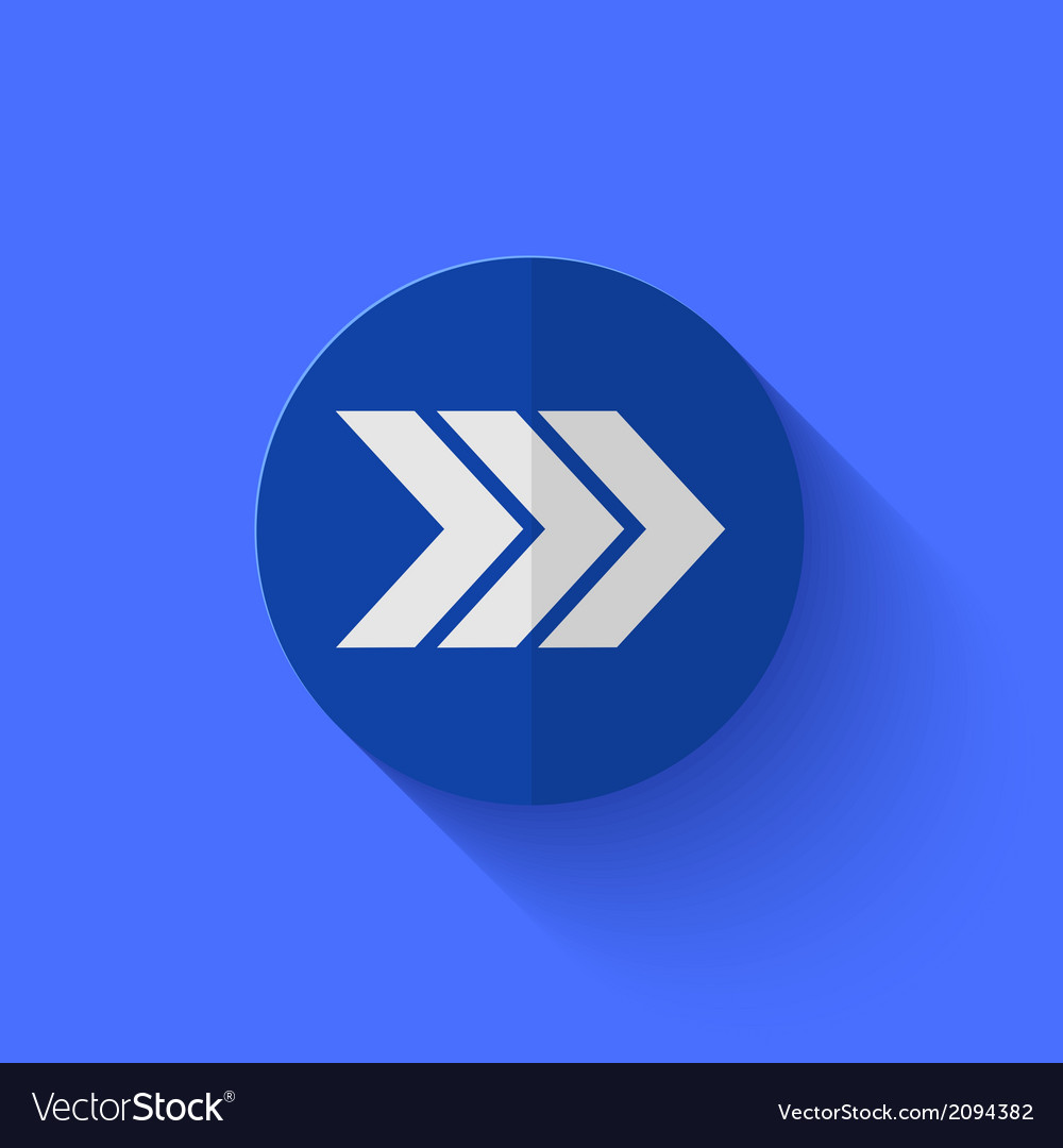 Modern flat blue circle icon vector | Price: 1 Credit (USD $1)