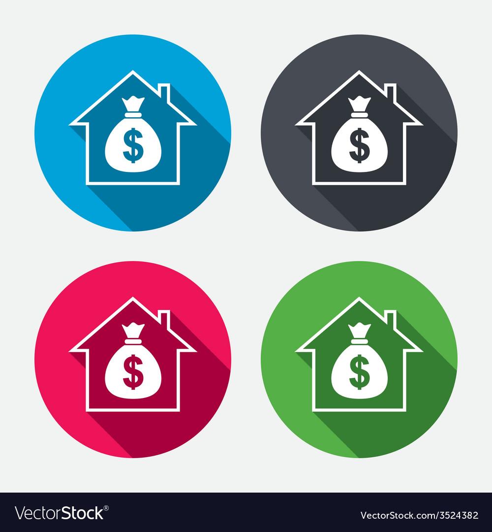 Mortgage sign icon real estate symbol vector | Price: 1 Credit (USD $1)