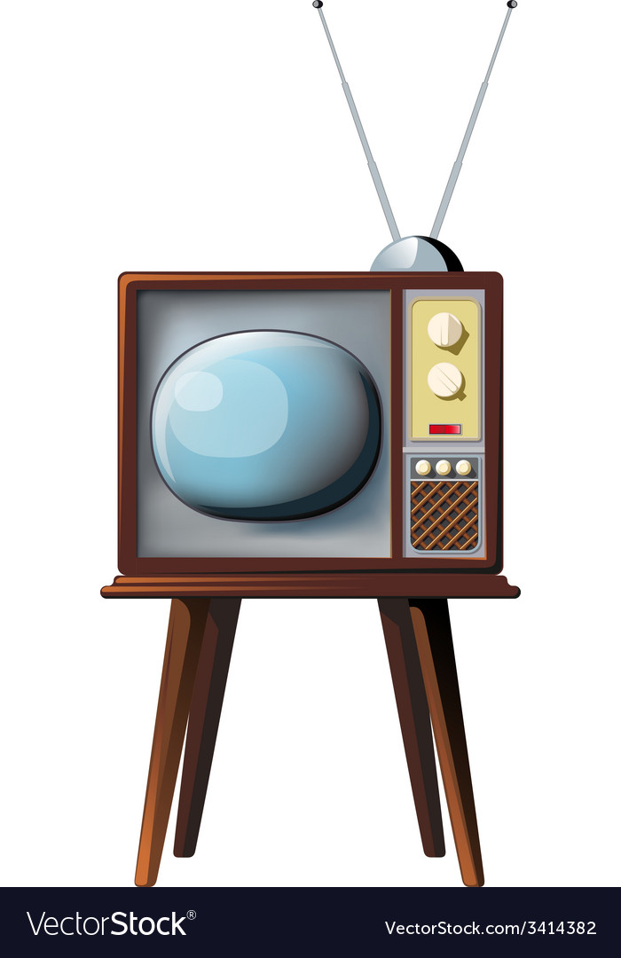 Old tv vector | Price: 3 Credit (USD $3)