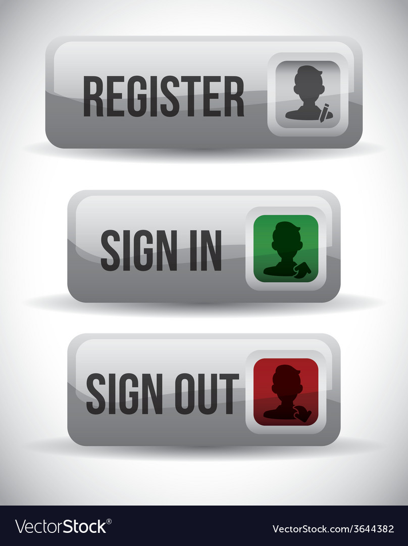 Register button design vector | Price: 1 Credit (USD $1)