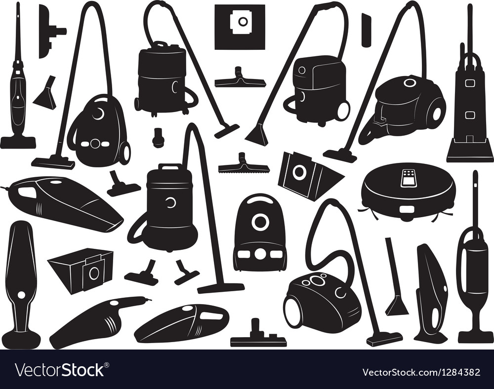 Set of different vacuum cleaners vector | Price: 1 Credit (USD $1)