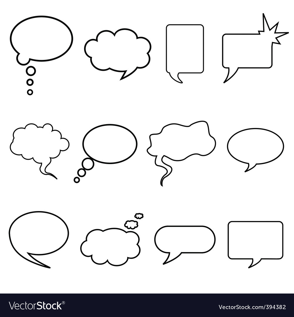 Talking bubble vector | Price: 1 Credit (USD $1)