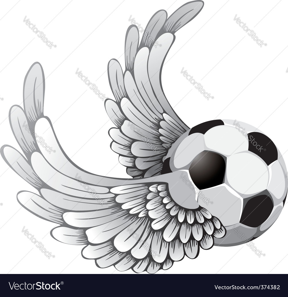 Winged soccer ball vector | Price: 1 Credit (USD $1)