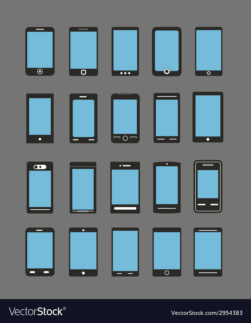 Abstract different mobile gadgets vector | Price: 1 Credit (USD $1)