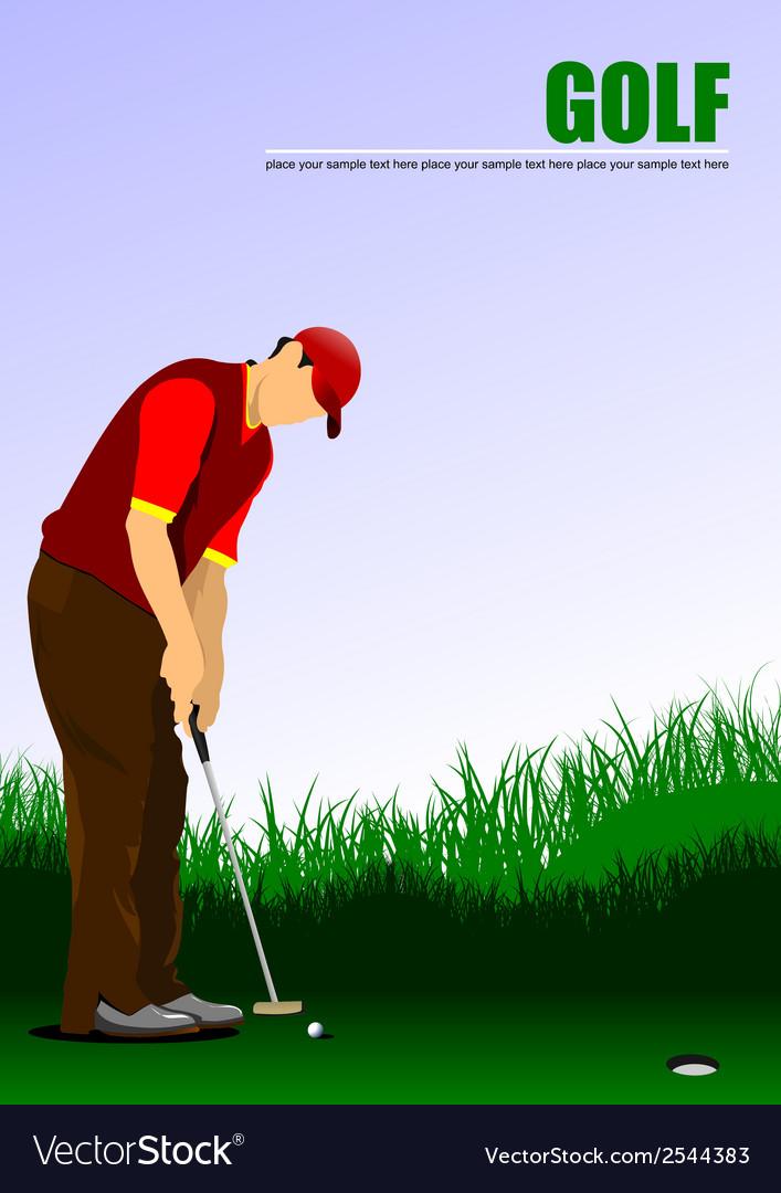 Al 1004 golf 02 vector | Price: 1 Credit (USD $1)