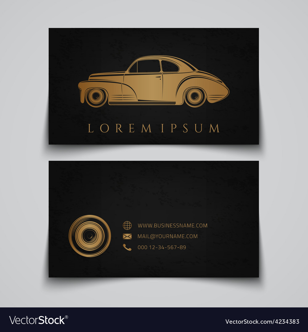 Business card template classic car logo vector | Price: 1 Credit (USD $1)