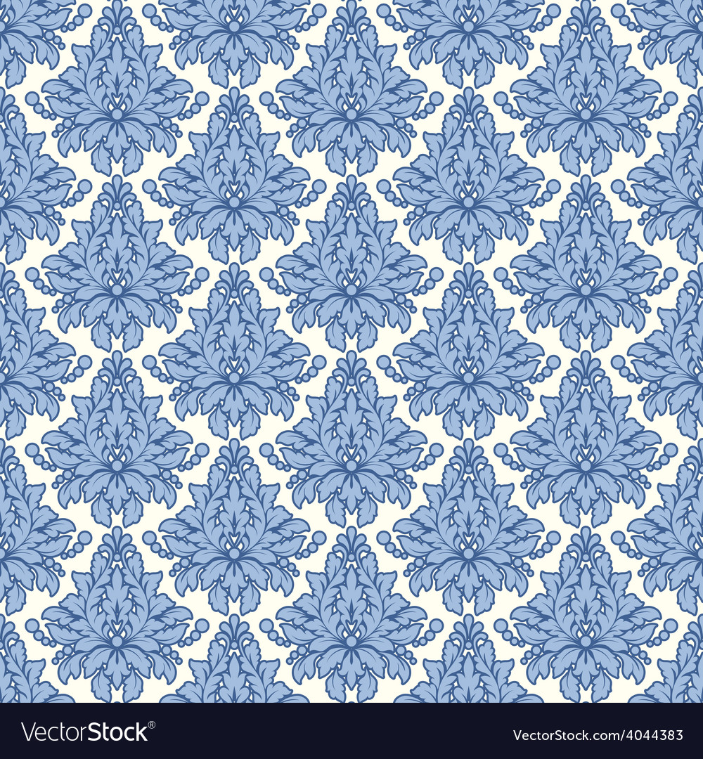 Damascus pattern seamless vintage background vector | Price: 1 Credit (USD $1)