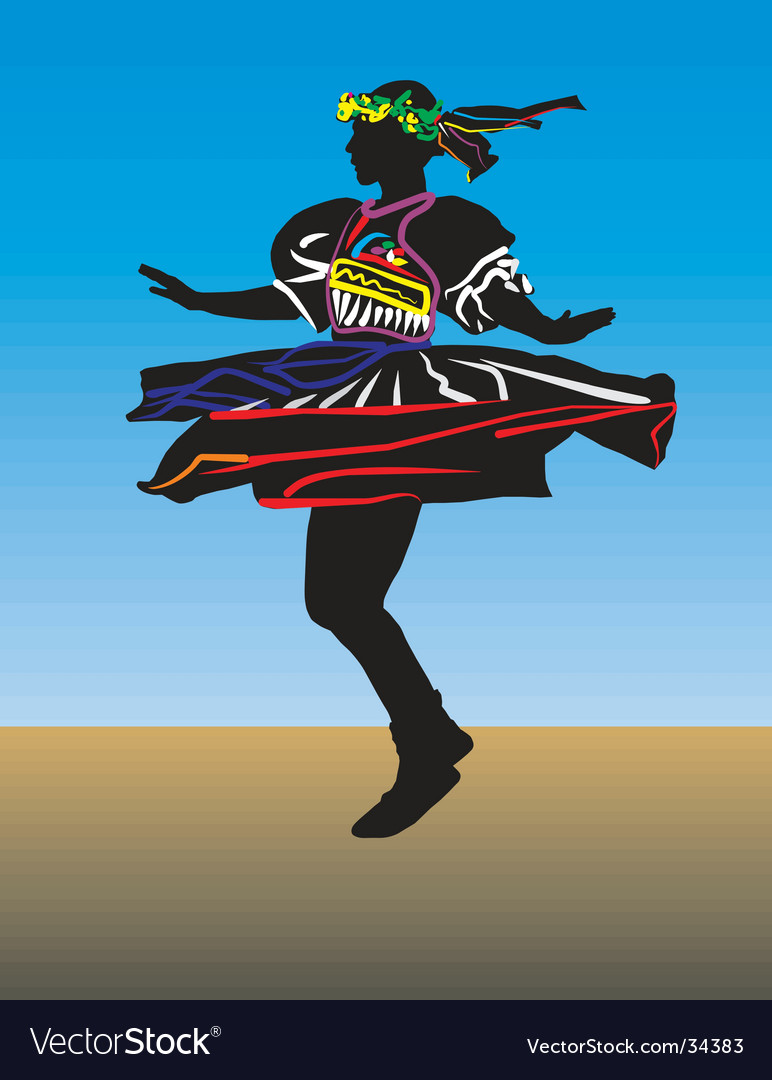 Dancer silhouette vector | Price: 1 Credit (USD $1)