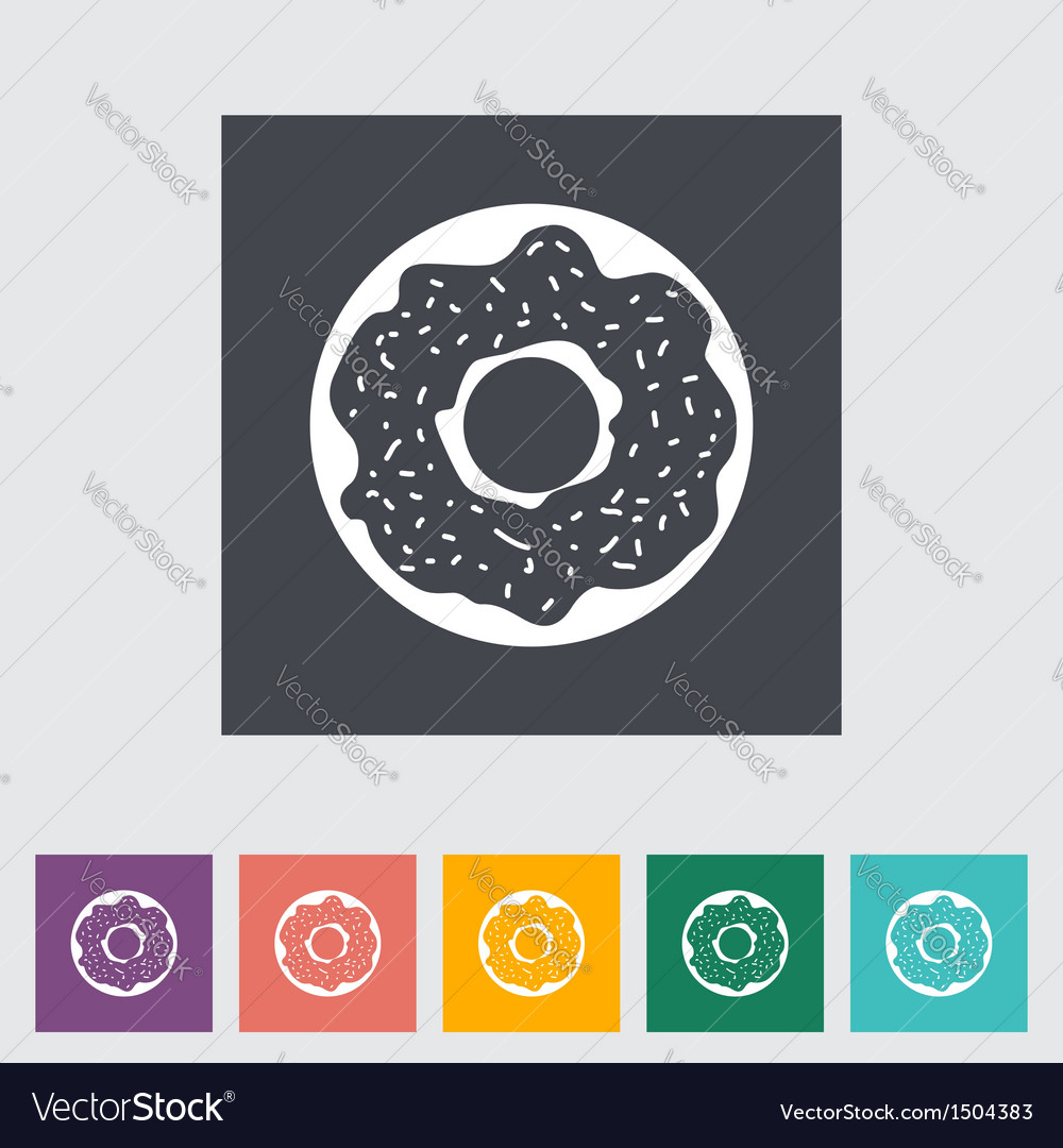 Donut vector | Price: 1 Credit (USD $1)