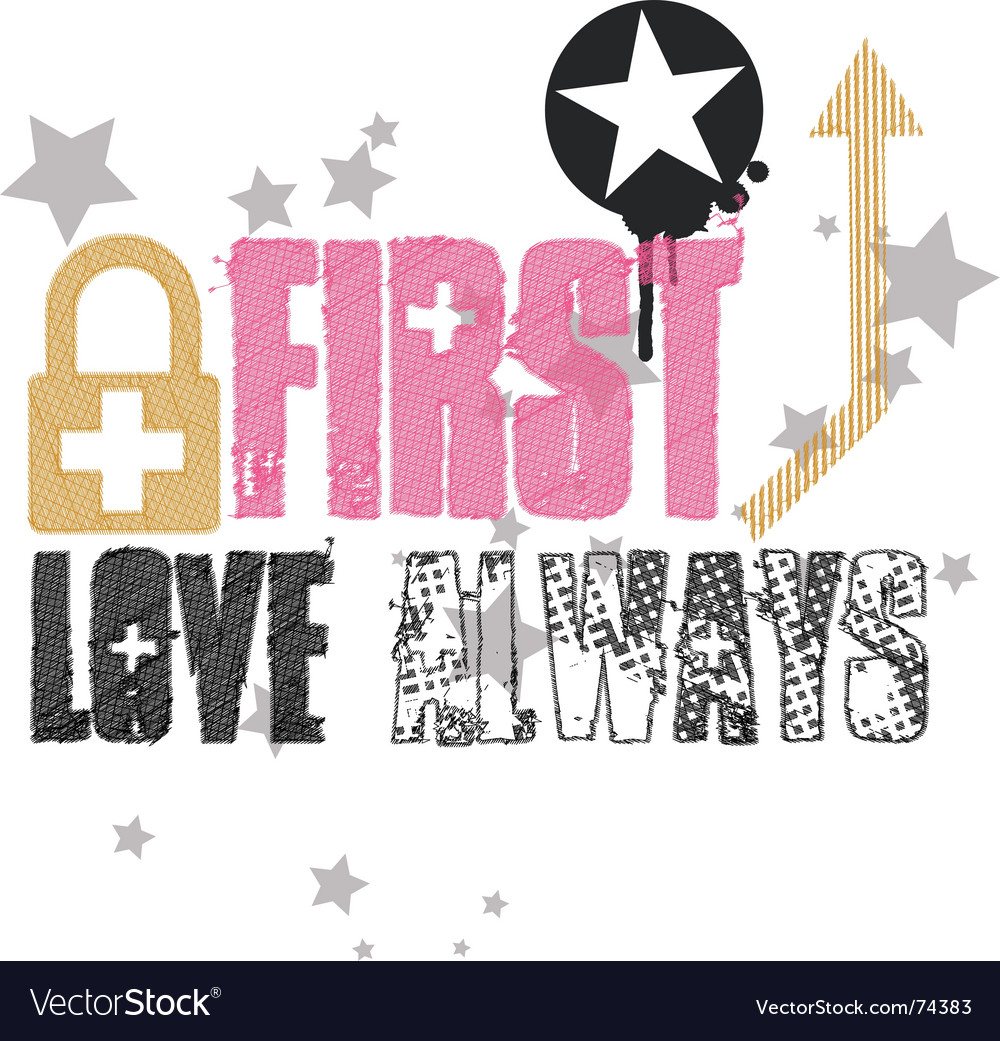 First love always vector | Price: 1 Credit (USD $1)