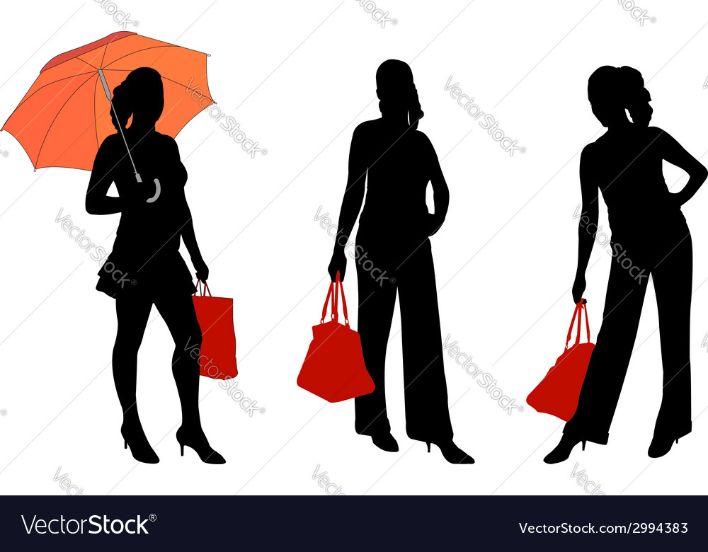 Girl with bag vector | Price: 1 Credit (USD $1)