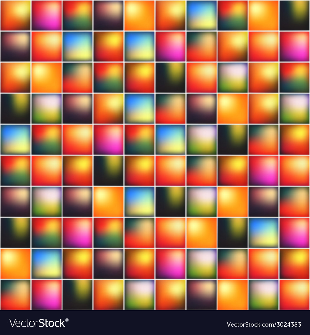 Glossy colorful mosaic square cells grid vector | Price: 1 Credit (USD $1)