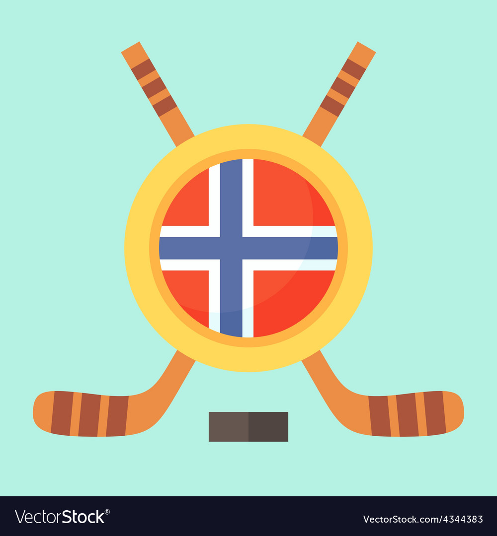 Hockey in norway vector | Price: 1 Credit (USD $1)