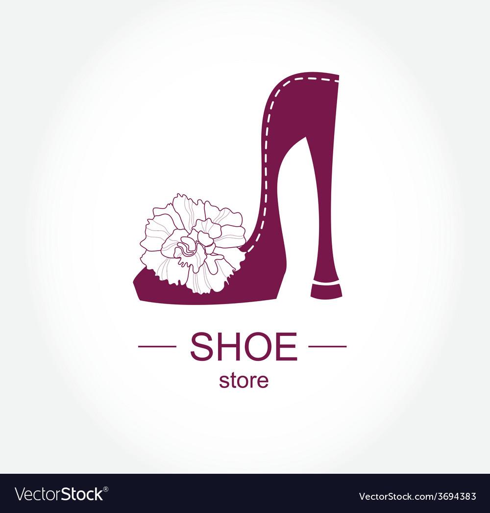 Logo shoe store shop fashion collection boutique vector | Price: 1 Credit (USD $1)