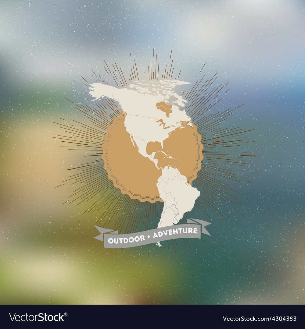 Outdoor adventure poster north and south america vector   Price: 1 Credit (USD $1)