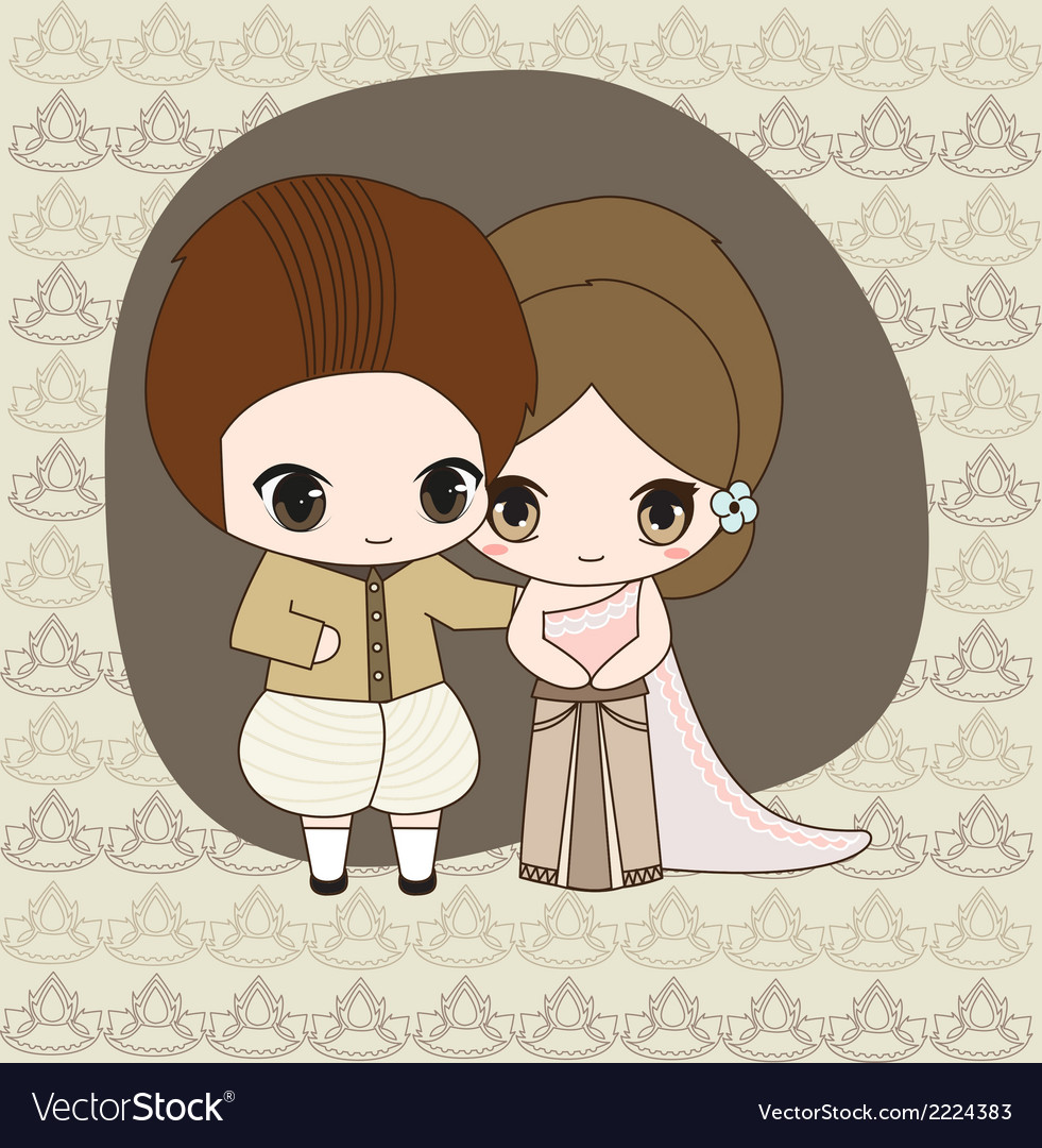 Thai wedding dress vector | Price: 1 Credit (USD $1)