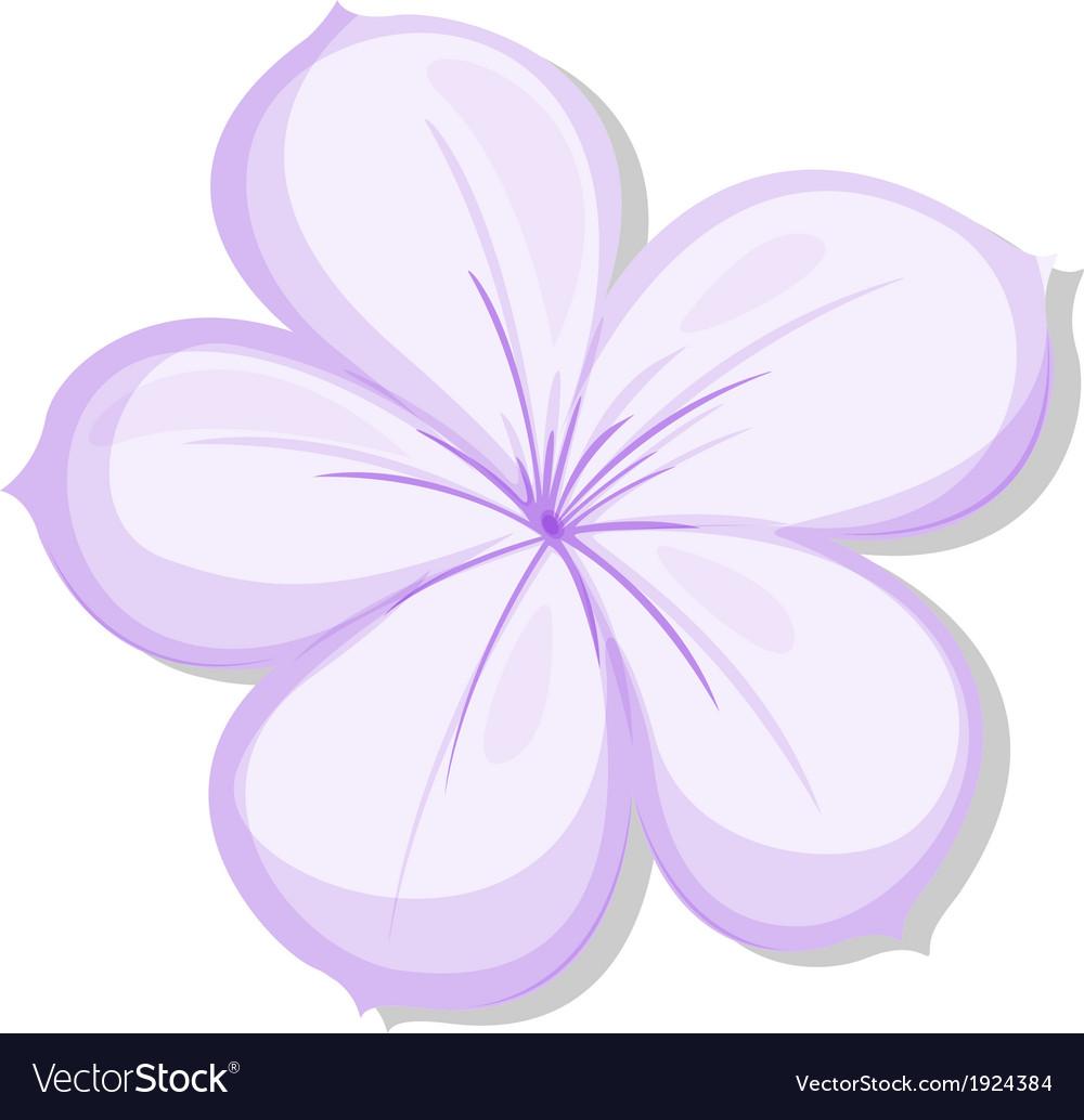 A five-petal violet flower vector | Price: 1 Credit (USD $1)