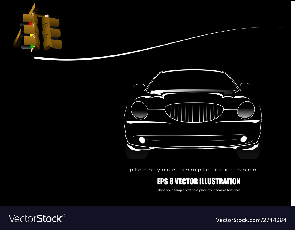Al 0617 car silhouette vector | Price: 1 Credit (USD $1)