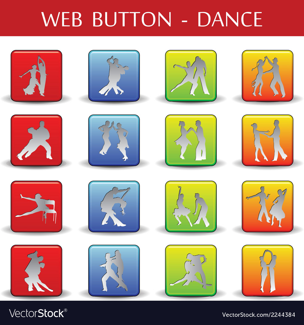 Dance web button vector | Price: 1 Credit (USD $1)