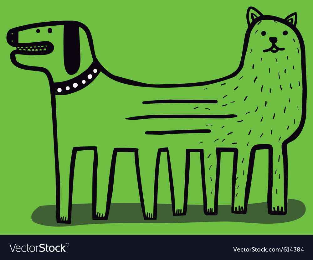 Dog and cat mutation vector | Price: 1 Credit (USD $1)