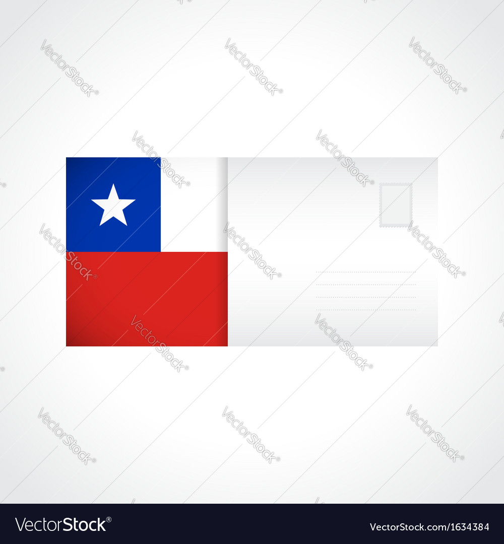 Envelope with chilean flag card vector | Price: 1 Credit (USD $1)