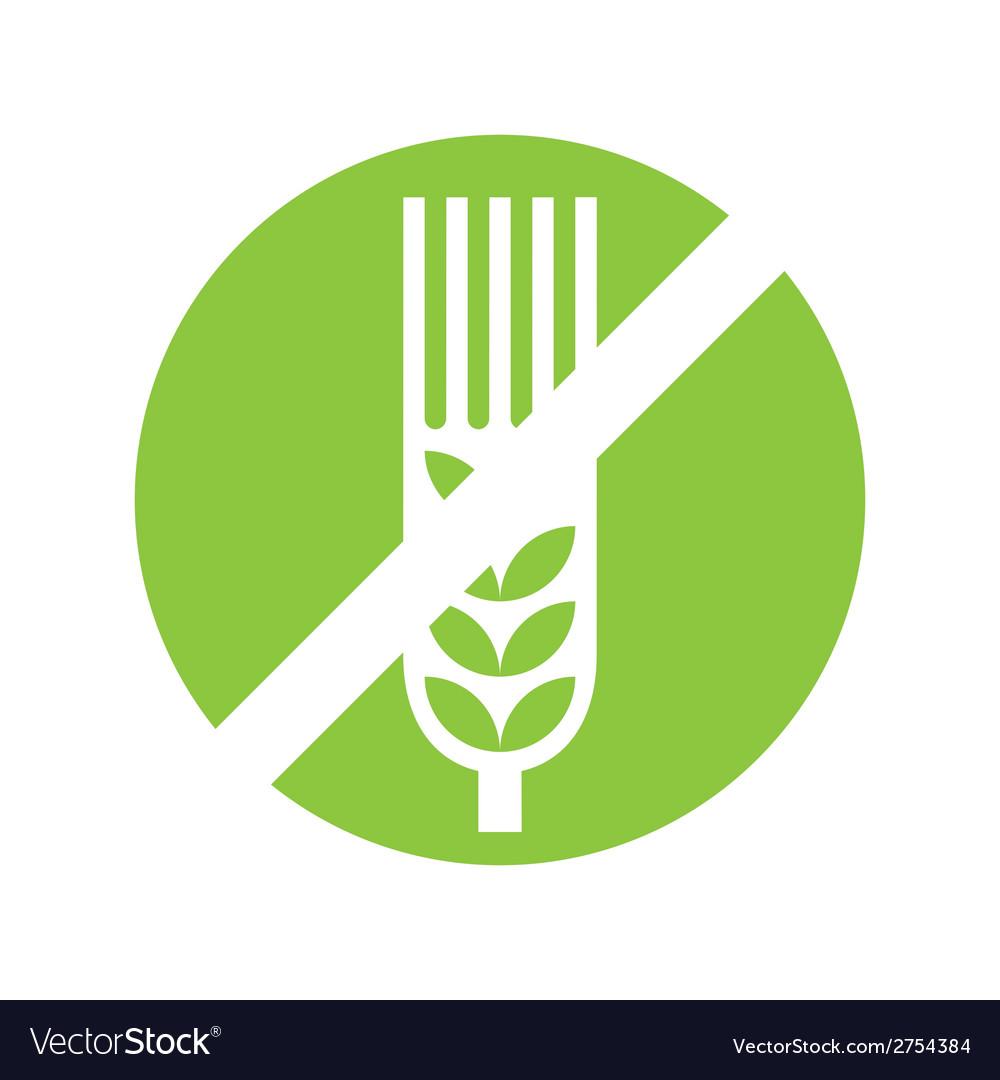 Gluten free sign vector | Price: 1 Credit (USD $1)