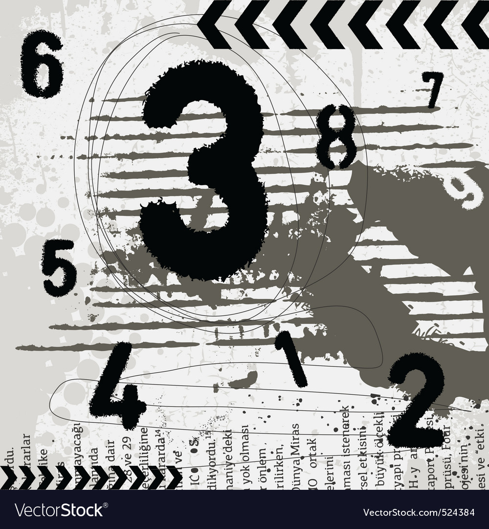Grunge numbers vector | Price: 1 Credit (USD $1)