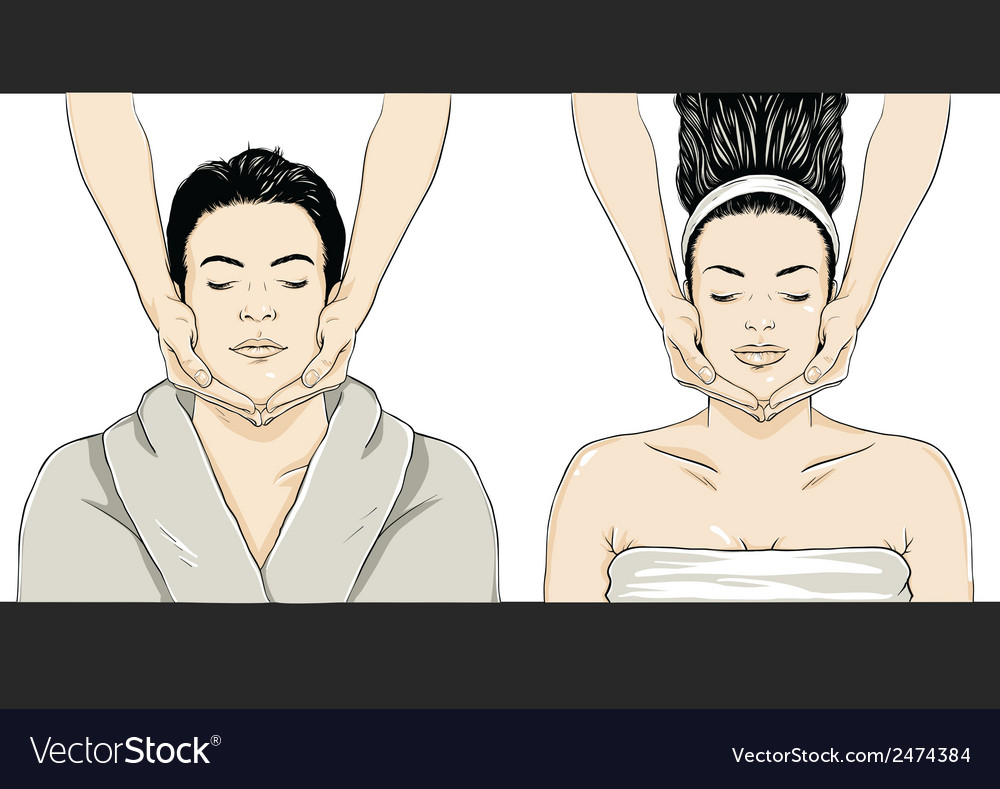 Massage - man-woman vector | Price: 1 Credit (USD $1)