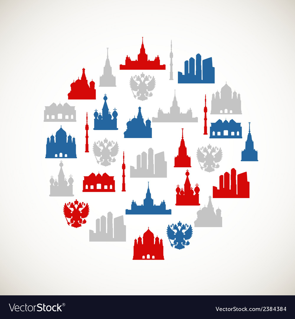 Moscow colorful icons vector | Price: 1 Credit (USD $1)